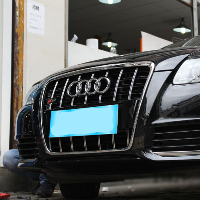 A6 modificado S6 estilo cromo Marcos negro capucha frontal parrilla ...