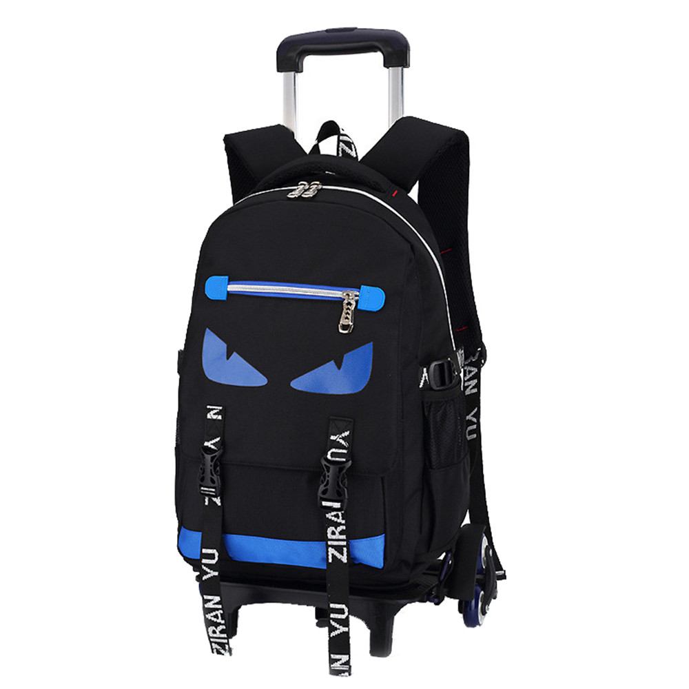 High-capacity Student Shoulder Backpack Rolling Luggage Children Trolley Suitcases Wheel Cabin Travel Duffle School Bag black travel bag spinner suitcases wheel trolley business rolling luggage large capacity carry on cabin luggage backpack