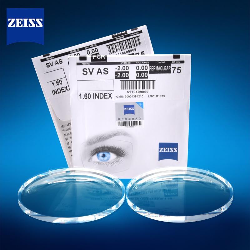 ZEISS 1.56 1.61 1.67 1.74 Prescription Lenses Photochromic Chameleon Lens Transparent Lenses Optical Glasses 1 Pair
