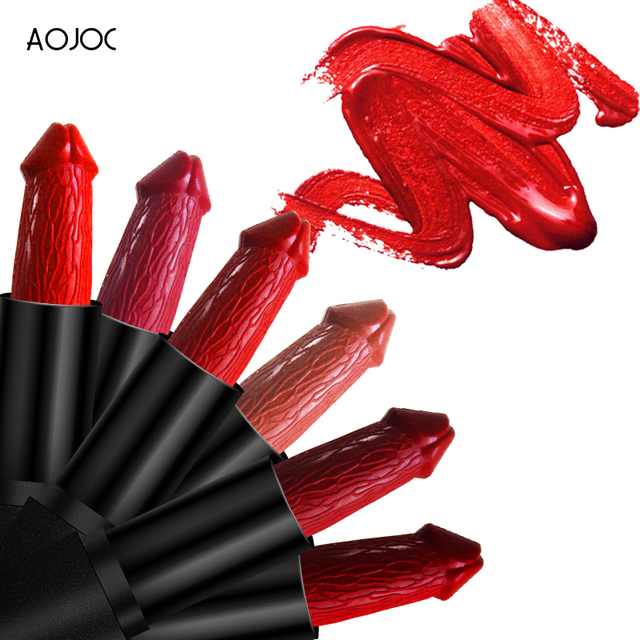 20 Colors Penis Shape Lips Makeup Lipstick Mushroom Long Lasting Moisture Cosmetic Lipstick red Lip matte