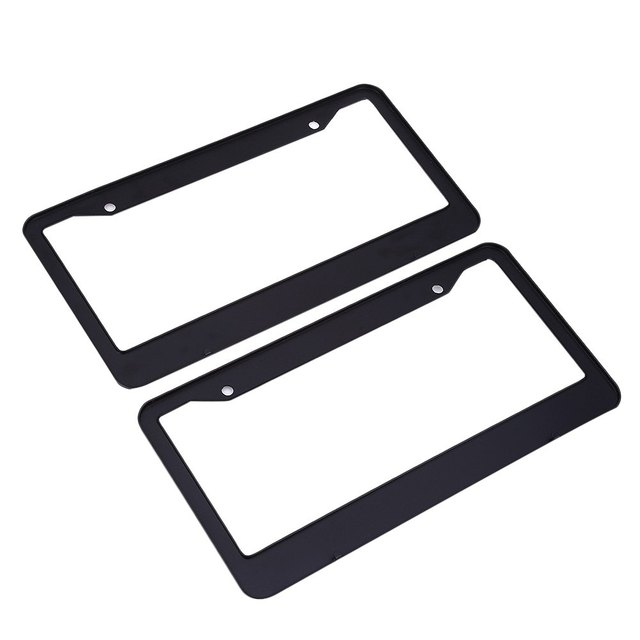 XC - TP 091 USA License Plate Frame Aluminium Alloy Durable Compact Design Easy to Install Anti-Theft Black Universal Type