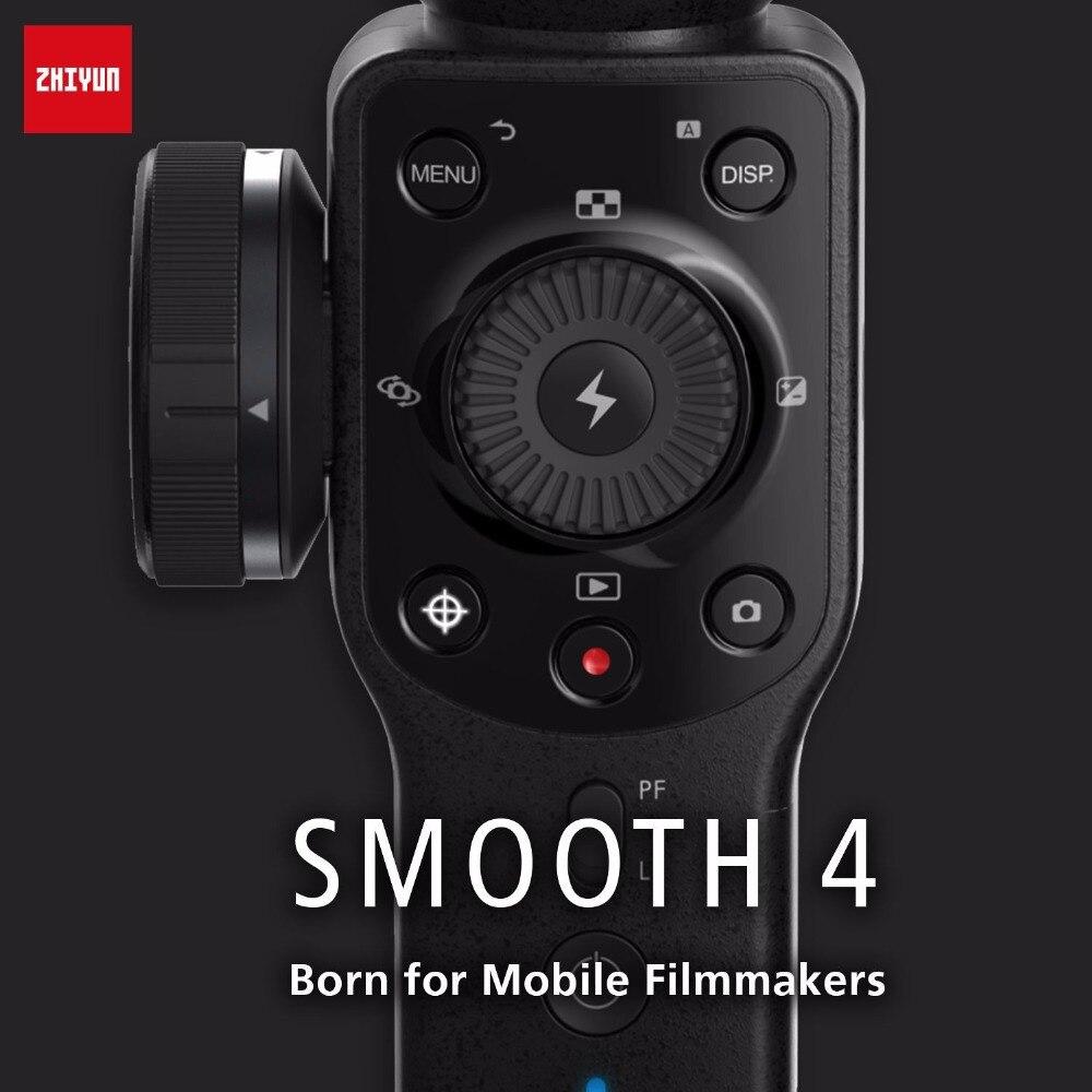Zhiyun Glatte 4 smartphone 3 Achsen gimbal stabilisator Mobile video steadicam für iphone/Android action kamera