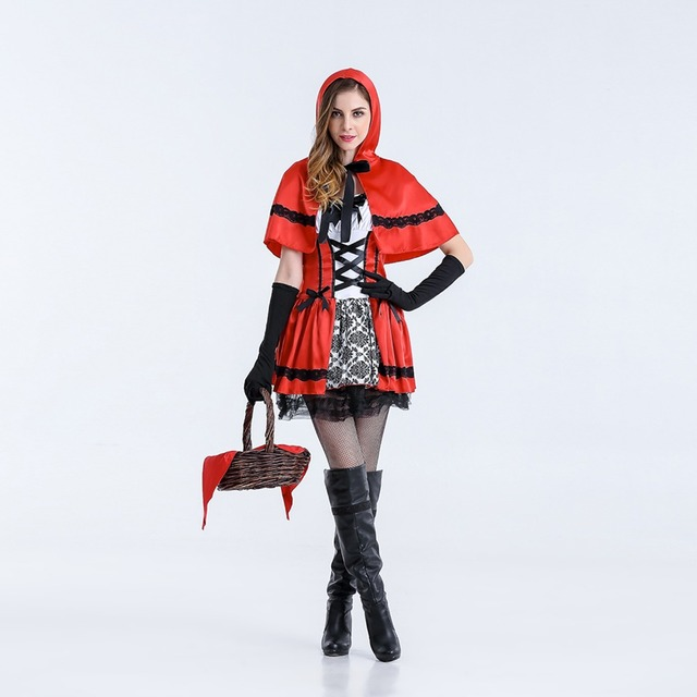 VASHEJIANG Plus Size Fairy Tales Little Red Riding Hood Costume Small Red Cap Princess Adult Halloween  sc 1 st  AliExpress.com & VASHEJIANG Plus Size Fairy Tales Little Red Riding Hood Costume ...