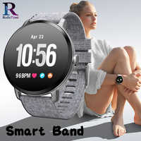 Męski inteligentny zegarek V11 inteligentny ciśnieniomierz tętna sportowy zegarek wodoodporny kobiety smartwatch dla ios i androida