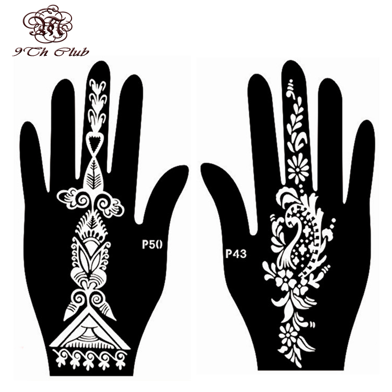 Aliexpress.Com : Buy 4Pcs Easy Women Hand Henna Tattoo Stencil