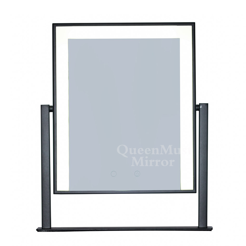 Hollywood Style Makeup Mirror with Lights Led Strip Mirror Cosmetic Lighted Vanity Mirror Tabletop Touch Screen Mirrors White