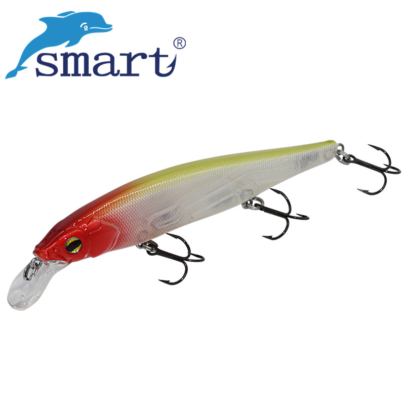 SMART Minnow Bait 110mm 17g Floating0-1.5m Fishing Lure VMC Hook Isca Artificial Para Pesca Leurre Souple Peche Fishing Tackle  smart minnow bait 65mm5 1g vmc hooks floating 1 0m fishing lure baits isca artificial para pesca leurre souple peche kunstaas