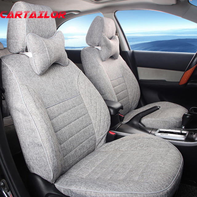 CARTAILOR Linen Seat Cover Fit For Toyota Corolla 2008 2017 Car Covers Interior Accessories Set