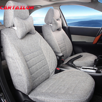 CARTAILOR Linen Seat Cover fit for Toyota Corolla 2008 2017 Car Seat Covers Interior Accessories Set Decoration Lumbar Supports