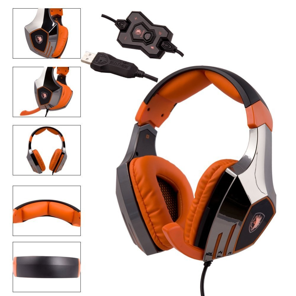 SADES A60 Game Headset 7.1 Surround Sound Pro Gaming Headset Gamer Vibration Function Headphones Earphones with Mic for PC Game mulinsen men