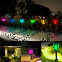 LED Solar RGB Garden Light LED Colorful Outdoor Lantern Lamp Waterproof for Garden Patio Yard Pool Wedding Decoration