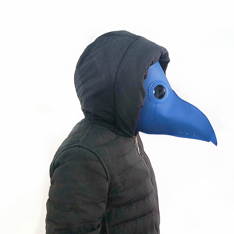 New-plague-doctor-mask-Beak-Doctor-Mask-Long-Nose-Cosplay-Fancy-Mask-Gothic-Retro-Rock-Leather(2)