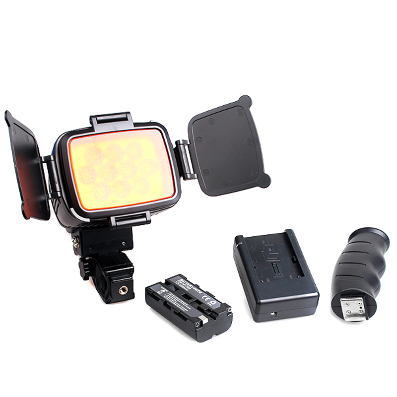 New Professional LED-5012 Video Camera Light DV Lamp for Canon/Nikon/Sony DV Camera Camcorder Lamp with Battery + Charger GDeals godox led 308y 308 leds professional led video 3300k light with remote control for canon nikon camera dv camcorder