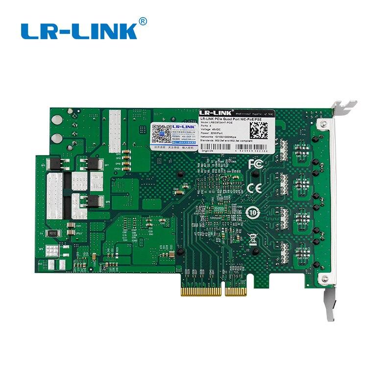 Image 4 - LR Link 9724HT POE Quad Port POE+ Frame Grabber Gigabit Ethernet RJ45 Video Capture Card Intel I350AM4 Nic-in Network Cards from Computer & Office