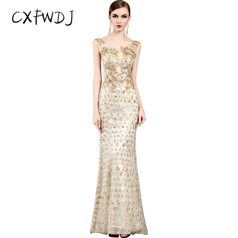 High end Sequins Fashion Hand studded Formal Dress New Ladies Prom Party  Fish Tail Slim Fit Long Women's Evening Wear Dresses-in Dresses from  Women's ...