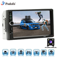 Podofo Car Radios Autoradio 2 Din 7 Inch LCD Touch Screen Car Radio Player Bluetooth Car