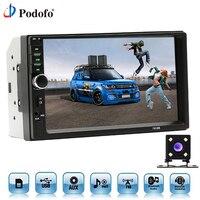Podofo Car Radios Autoradio 2 Din 7 Inch LCD Touch Screen Car Radio Player Bluetooth Car
