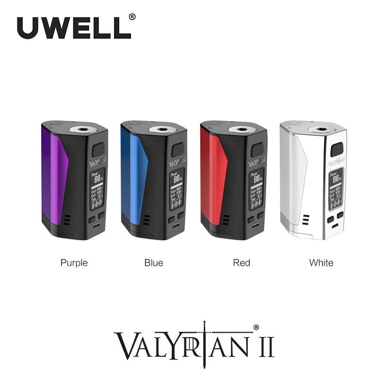UWELL Valyrian II Mod Triple 18650 batteries 300 W Cigarette électronique Vape Mod sans batterie
