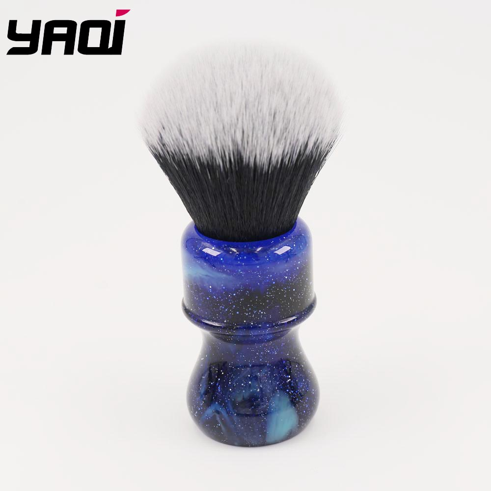 26MM Yaqi Mysterious Space Color Handle Tuxedo Knot Men Shaving Brush-in Shaving Brush from Beauty & Health
