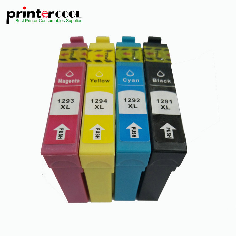 1Set T1291 - T1294 Compatible Ink Cartridge For Epson Stylus SX235W SX230 SX420W SX425W SX430W SX435W SX440W SX445W Printer