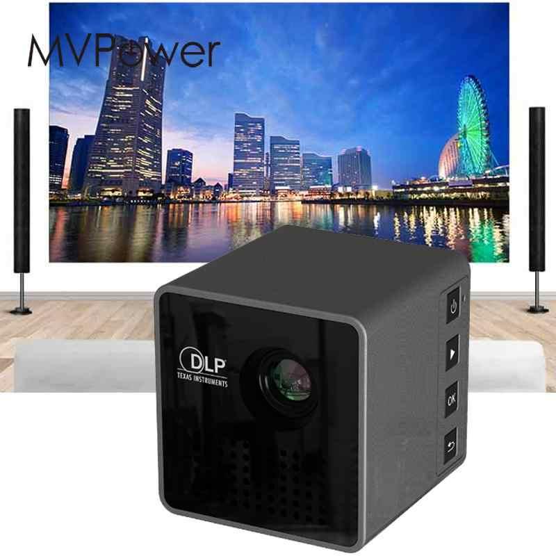 Nowy 30 lumenów Mini projektor LED DLP P1 domu kino 1080 P