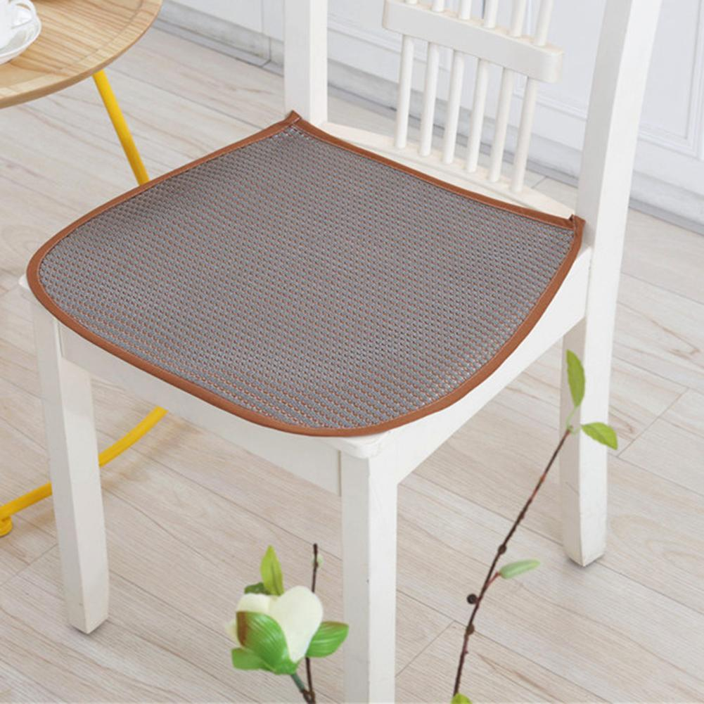 3D Ice Silk Summer Breathable Cool Chair Pad For Office Chair Cushion Polyester Fiber Tatami Chair Summer Pad Mat 42x44cm