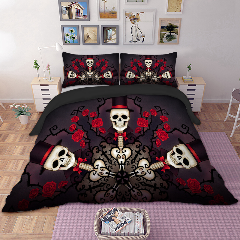 Sugar Skull Bedding Set Twin Full Queen King Super King Double Size Duvet Cover Quilt Cover Pillow Cases 3pcs Sugar Skull Bedding Set Twin Full Queen King Super King Double Size Duvet Cover Quilt Cover Pillow Cases 3pcs