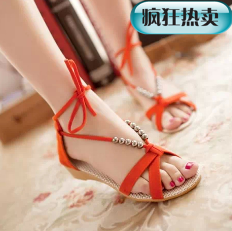 d413245d3a Women Designer Slippers Slippers Women Summer Beaded Shoes Wedges Rome  Sandals Slippers For Women-in Women's Sandals from Shoes on Aliexpress.com  | Alibaba ...