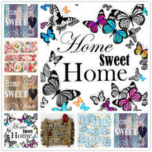Popular Diy 5D Diamond Embroidery Animal Butterfly Diamond Mosaic Home Sweet Text Diamond Painting Monkey Kits Daimond-painting(China)