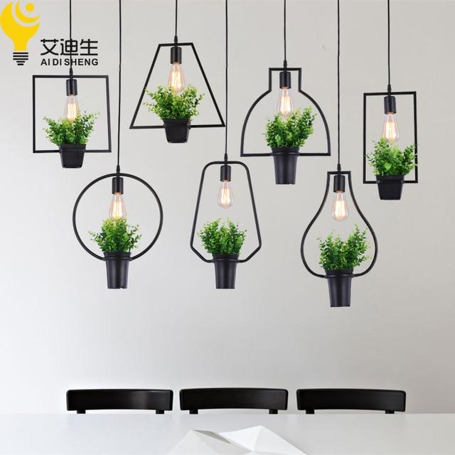 Modern Plant Pot Deco Pendant Lamp Fashion Nordic Shade Modern Dining Table  Hanging Light Fixture DIY