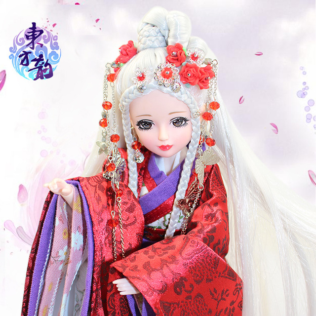 Fortune days doll East Charm White-Fox, including clothes, stand and box, 35cm 5
