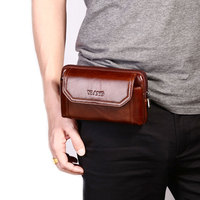 2018 Retro Universal Wallet Waist Bag For iPhone 8 7 7 Plus 8 6 6s Plus Brown Mobile Phone Cases Pouch For Samsung S9 S8 Plus