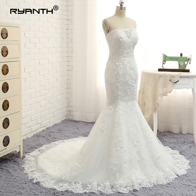 Sweetheart Neckline Lace Mermaid Wedding Dresses New 2019: Aliexpress.com : Buy Robe De Mariage Sparkly Lace Mermaid