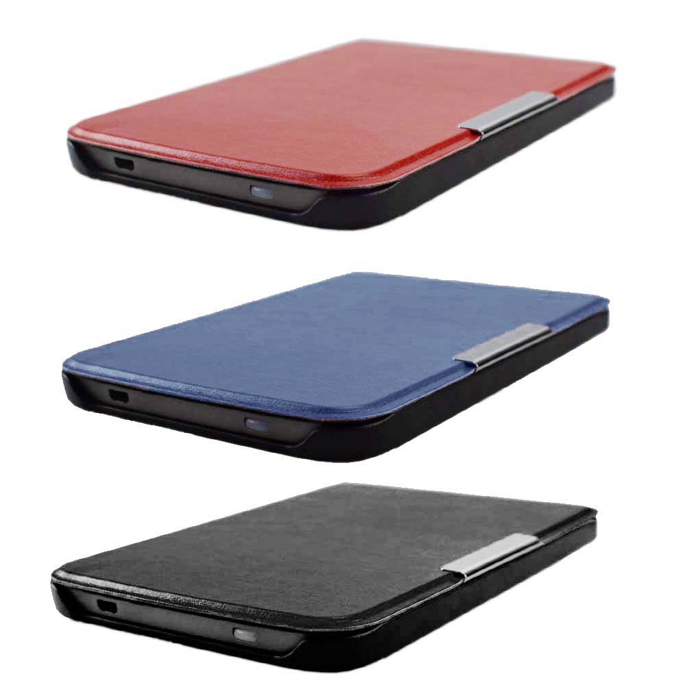 For <font><b>PocketBook</b></font> Basic Lux 2 Touch Lux 4 HD 3 Smart Cover Case, Ultra Slim Flip leather Case for <font><b>Pocketbook</b></font> <font><b>616</b></font>/627/632 auto sleep image