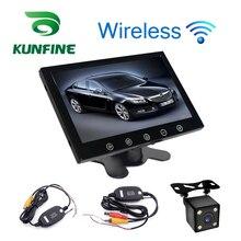 Estilo do carro 12-24 V 9 Polegada TFT LCD Carro Da Tela de Toque Exibição encosto de cabeça Exibição Retrovisor Monitor com Wifi Retrovisor de Backup câmera