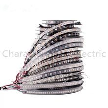 1m 2m 3m 4m 5m WS2812B WS2812 Led Strip,Individually Addressable Smart RGB Led Strip,Black/White PCB Waterproof IP30/65/67 DC5V