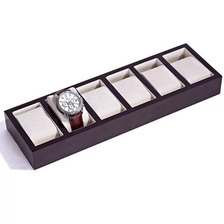30 grilles en bois boîte de montre boîtier de stockage de bijoux professionnel titulaire organisateur pour horloge montres bijoux affichage meilleur cadeau