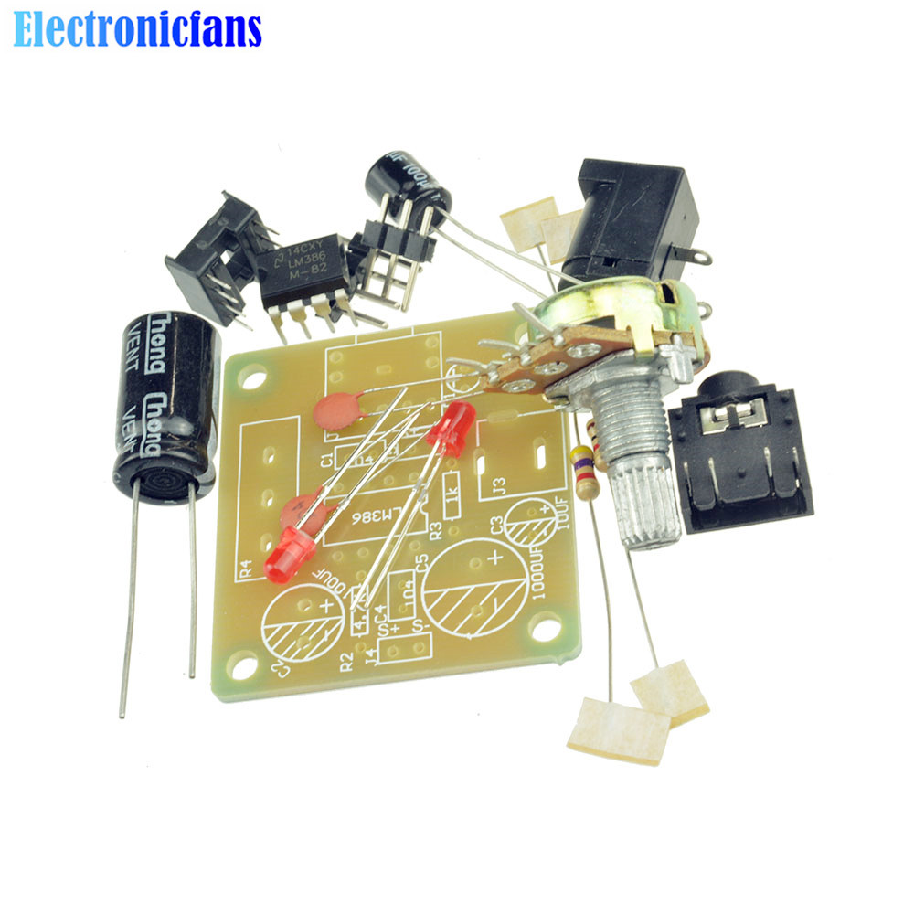 Lm386 Mini Amplifier Board Diy Kit 3v 12v Power Suit Working Operation Of Audio Ic For