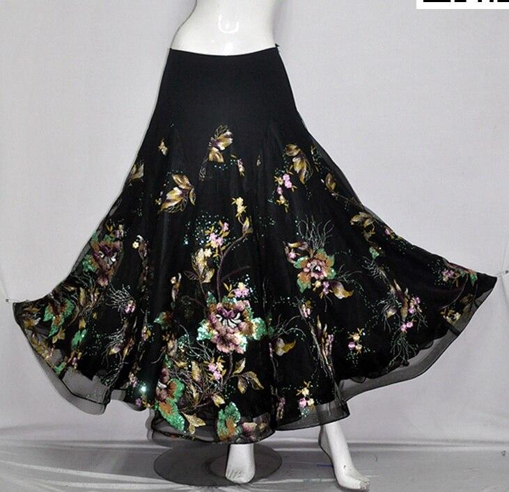 Costume de danse Flamenco jupe longue salle de bal danse moderne Standard valse danseuse robe espagne LXQ013