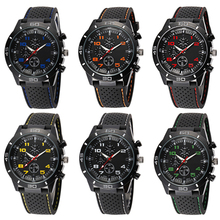 Popular Outdoor Design Men's Fashion Silicone Band Stainless Steel Analog Sport Quartz Wrist Watch NO181 5V6C C2K5W