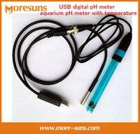 Fast Free Ship USB Digital PH Meter Aquarium PH Meter With Temperature Free Driver Support Secondary