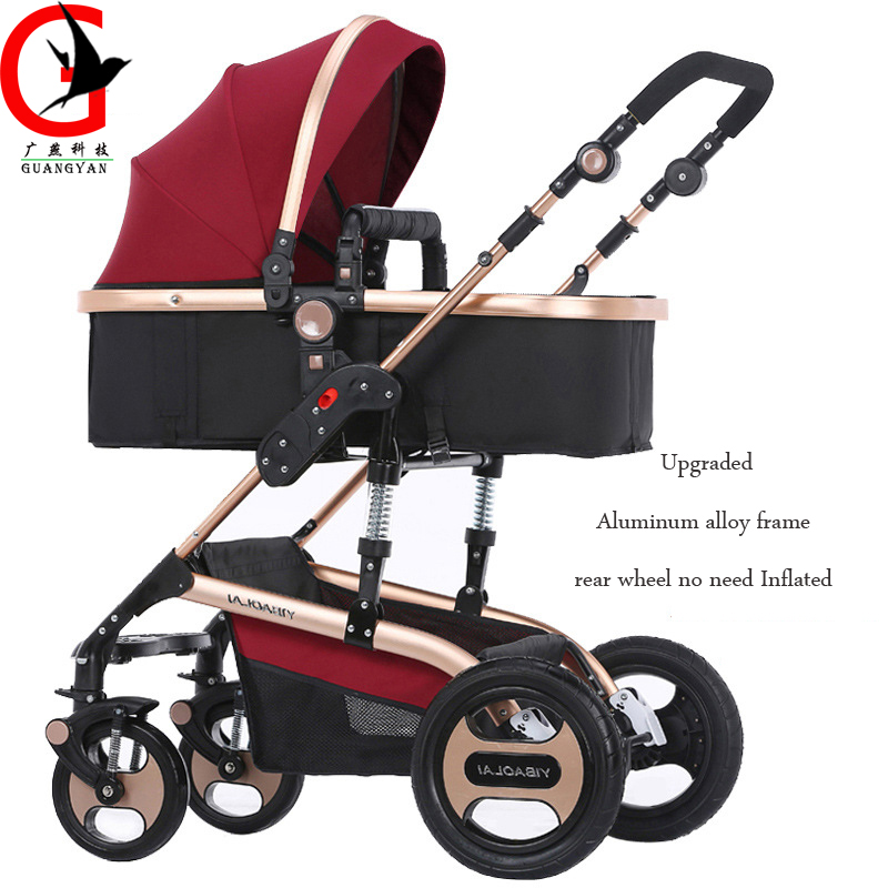 Baby carriages for newborns 3 in 1 luxury High landscape can sit and lie baby stroller Folding shock absorption carrinhoYBL-V16S