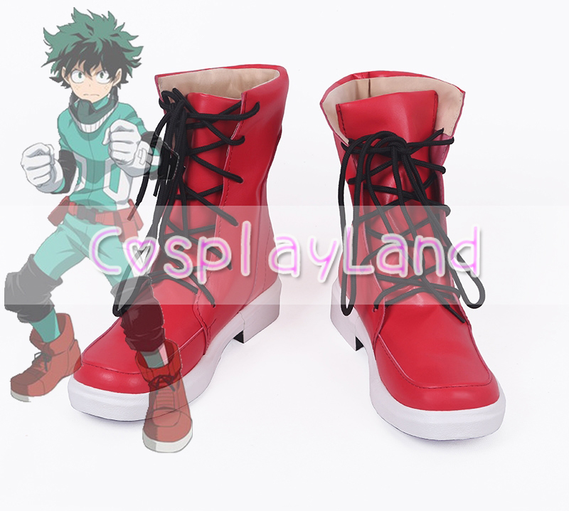 My Hero Academia Izuku Midoriya Cosplay Boots Shoes Men Cosplay Costume Party Shoes Custom Made Boots Accessories