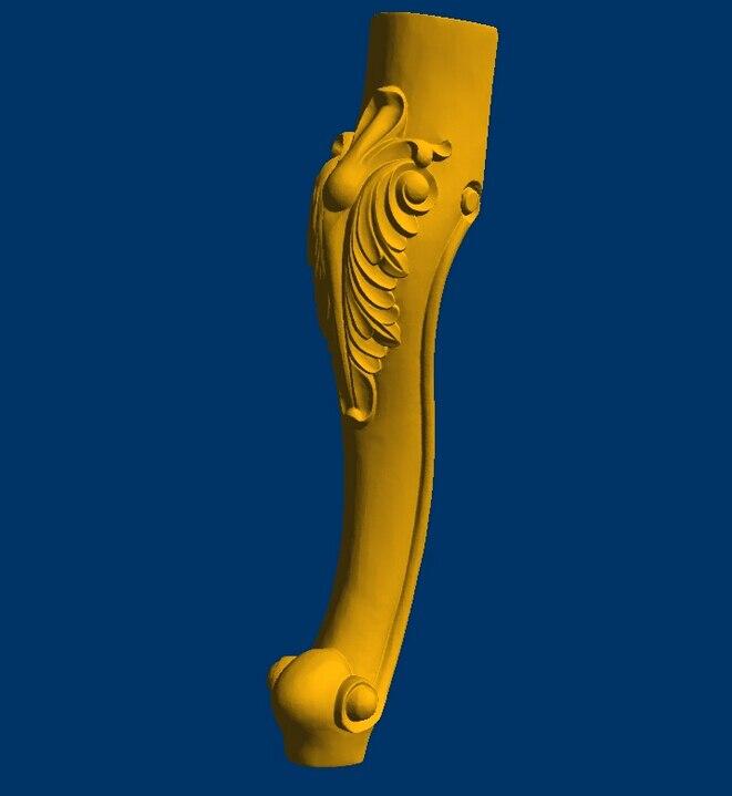 High Quality 3D Model Relief STL Format CNC Chair Legs Furniture Leg 114