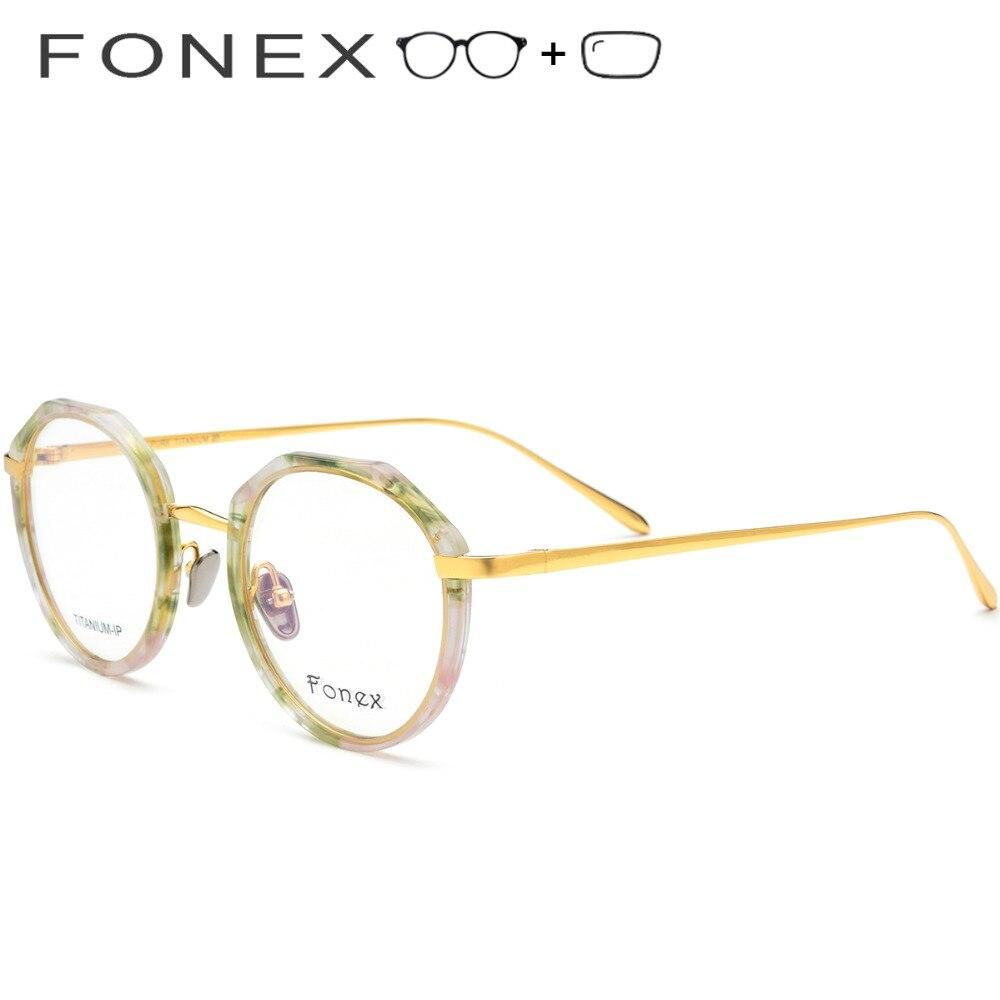 Frauen Neue Koreanische Männer Runde Ultraleicht Brillen Rahmen Vintage Myopie Optische Reinem Titan 2019 7xwESIIU