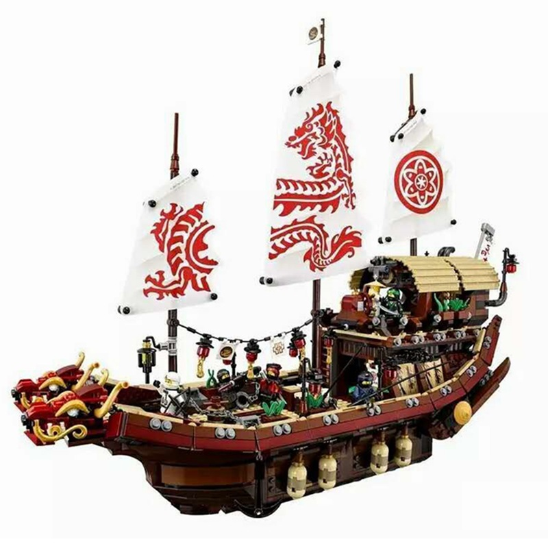 Lepin 06057 2345Pcs New Ship Series The Destiny`s Bounty Set legoing 70618 Building Blocks Bricks Educational Kid`s Toys As Gift new lepin 16009 1151pcs queen anne s revenge pirates of the caribbean building blocks set compatible legoed with 4195 children
