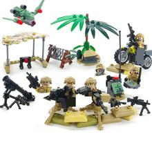 hot military WW2 US Army delta Special forces war Building Block mini weapon figure model brick education toys for children gift цена