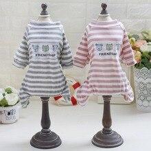 Купить с кэшбэком 100%  Cotton Soft Dog Clothes For Small Medium Dogs Clothing Dog Jumpsuits Pajamas Yorkies Chihuahua Clothes Funny Pet T-shirt