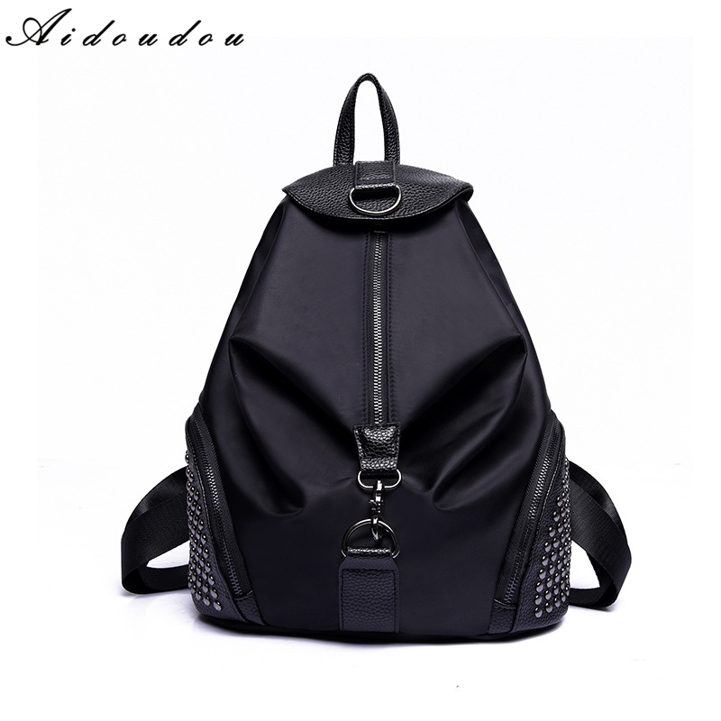 AIDOUDOU Brand Teenagers Backpacks 2017 New Arrive Schoolbags For College Students Travel Large Capacity Nylon Women