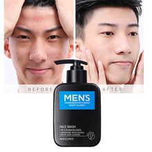 Men Cleanser Oil Control Korean Exfoliante Remove Blackhead Ance Treatment Facial Cleaner Skin Care Pore Cleaning Face Wash LQ